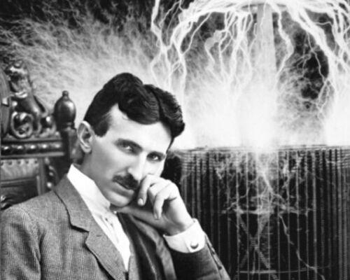 Nikola Tesla Science Photo Poster Painting 8x10 Real Canvas Giclee Art Print