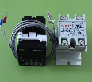 100-240VAC-Digital-PID-Temperature-controller-25A-SSR-Heat-sink-K-sensor