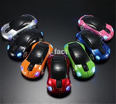 LED Light 2.4GHz 1600DPI Wireless Optical Mouse Mice+ Receiver For Laptop PC US