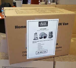 *** 99 CENT BOXES!!! 50% OFF MOVING AND PACKING SUPPLIES!!! *** Kitchener / Waterloo Kitchener Area image 1
