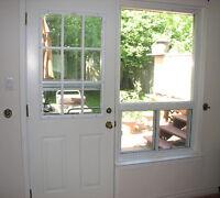 """Insulated Double Door & Screen Door 32""""x80"""""""