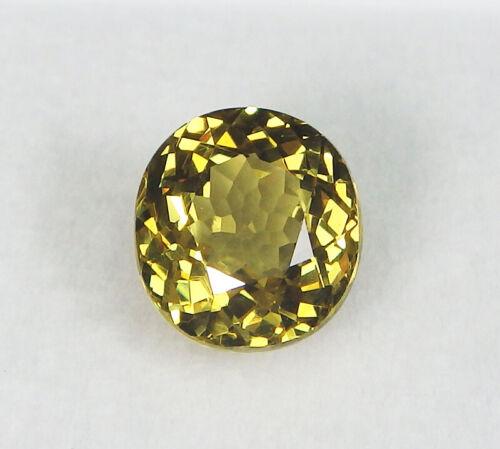 GIA Certified Natural Grossular Andradite Garnet Oval Greenish Yellow 4.76 ct