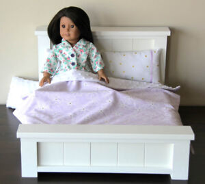"""NEW - Handcrafted Wooden Doll Bed - fits an 18"""" Doll"""