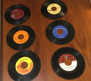 "Single ""45""'s records/vintage(6)"