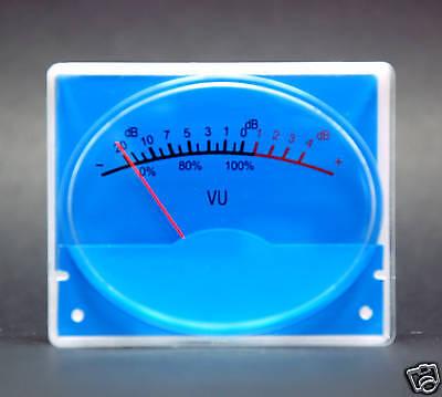 10pcs Sd-315r Panel Vu Meter 500ua 650 65.2x53.3mm With 12v Blue Lamp