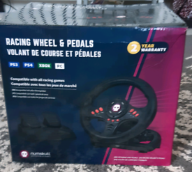 Gaming steering/racing wheel and pedals
