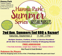 2nd Annual Summers End BBQ & Vendor Bazaar!