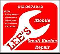 Lees Mobile Small Engine Repair! Lawn & Garden Equipment.