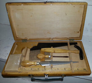 1960 Vintage CHILDS TOOL SET COMPLETE TOY ANTIQUE