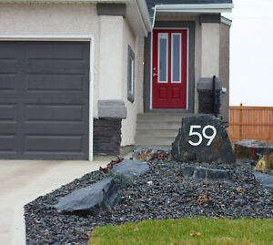 Large Modern Metal House Numbers from House Number King Regina Regina Area image 10