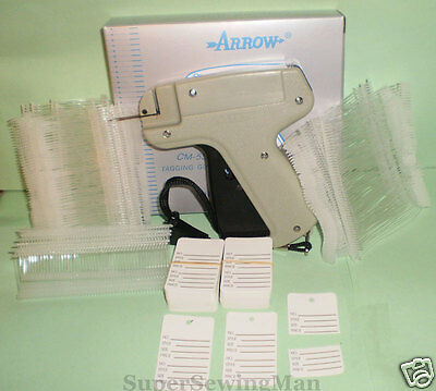 Clothes Price Label Tagging Tag Tagger Gun 1000 Pins 100 Price Tags
