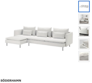 IKEA Soderhamn Cream L-Sofa **GREAT CONDITION