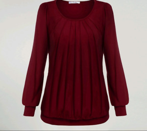 New wine red blouse