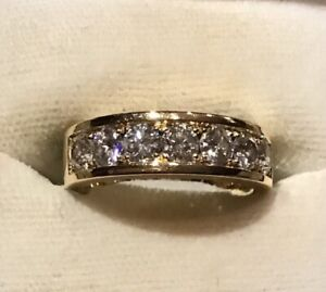 Diamond and Gold Band - Excellent Condition