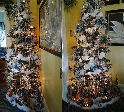 Winter Village Wonderland Christmas Tree Decoration Package Set of 128