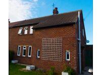 3 Bedroom Semi-Detached House to rent in quiet village near Malton