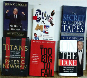 6 Hard Covered books from or about Political Figures or issues