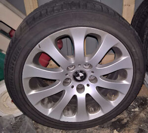 """17"""" -225x45x17"""" stock bmw rims with tires  sale ."""