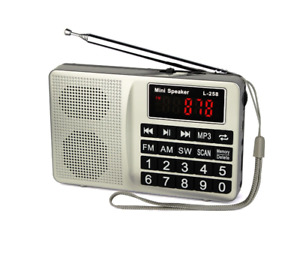 Radio with AM FM Micro-SD Card AUX Input MP3 Player Speaker