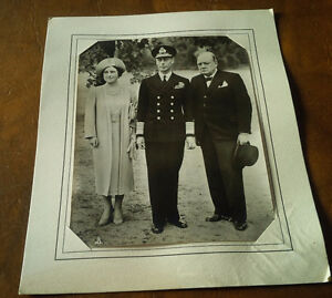 Photo: Churchill, King George VI, Queen Mother