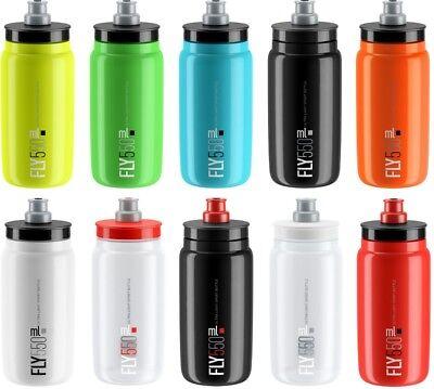 ELITE Fly 550 ml Sport/Fahrrad-Trinkflasche BPA-frei besonders leicht + drückbar