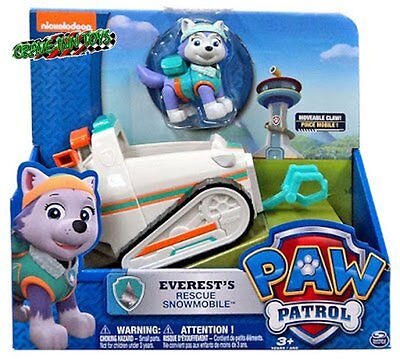 PAW PATROL EVEREST RESCUE SNOWMOBILE VEHICLE Nick Jr VHTF