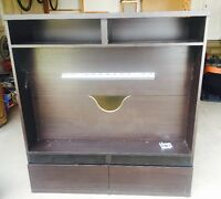 Brown/Black Flat Screen TV unit with drawers below