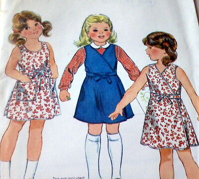 *LOVELY VTG 1970s GIRLS DRESS Sewing Pattern 2