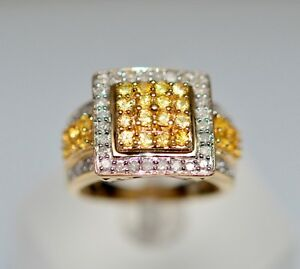 Yellow Sapphire & Diamond Ring, 14K Yellow Gold, Value $3,750