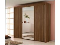 Large 1 mirror 3 Door Sliding Wardrobe