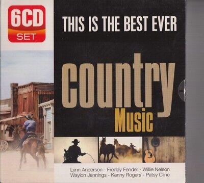 THIS IS THE BEST EVER COUNTRY MUSIC 6-CD SET Willie Nelson Waylon Jennings