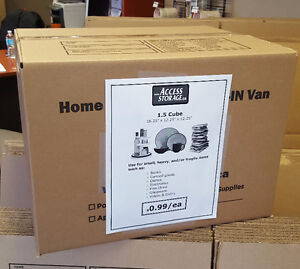*** 99 CENT BOXES!!! 50% OFF MOVING AND PACKING SUPPLIES!!! ***