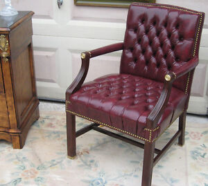 Leather Parlor Chair (Vintage Style)