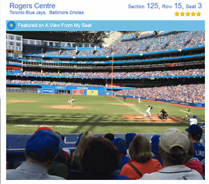 TORONTO BLUE JAYS HOME GAMES PREMIUM DUGOUT 8 ROWS FROM DUGOUT