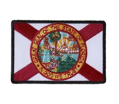 """Used, (C16) FLORIDA STATE FLAG 3"""" x 2"""" iron on patch (6189) for sale  Columbus"""