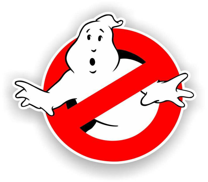 "7"" Ghostbusters High Quality Decal Bumper Sticker Car Tv Show Halloween costume"