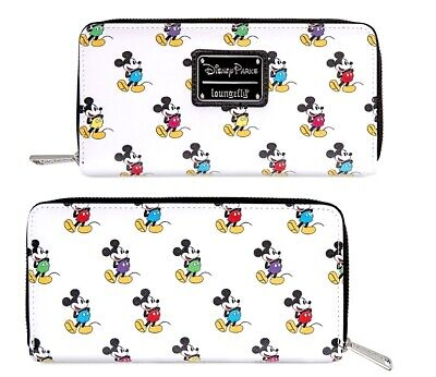 Disney Park Authentic Loungefly Wallet ✿ Mickey Mouse Classic Pose Happy Zips