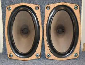 A matched pair of vintage Fane bass/mid Hi-Fi speaker drivers.