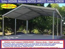 New gable  roof carport sale 6 x 6  $ 1480 or 6 x 9  $2300 Thomastown Whittlesea Area Preview