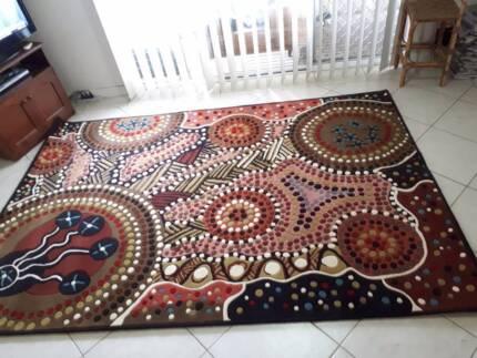 2m x 3m Traditional Aboriginal Designer Rug