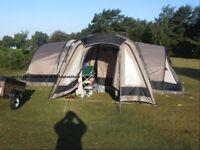 Gelert Horizon 8 (mocha) Tent Plus Porch & extra internal carpet, plus other camping equipment