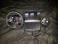 G29 Steering wheel with shifter.