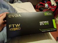 EVGA GTX 1070 FTW Hybrid - BRAND NEW