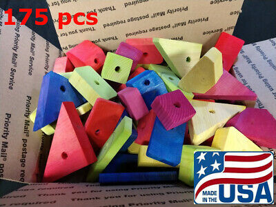 175 Large Wooden Parts for Parrot Toys Bird Toys Macaw Amazon Senegal Cockatoo