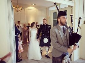 Full-time, professional bagpiper/piper for hire - Weddings, Funerals,