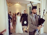 Full-time, professional bagpiper/piper for hire - Weddings, Funerals, any occasion