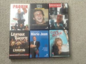 DVD D'HUMOUR $5 chaque