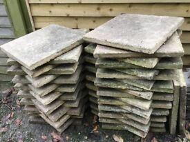 38 X concrete paving slabs