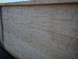 Slate effect concrete Fencing / concrete gravel boards