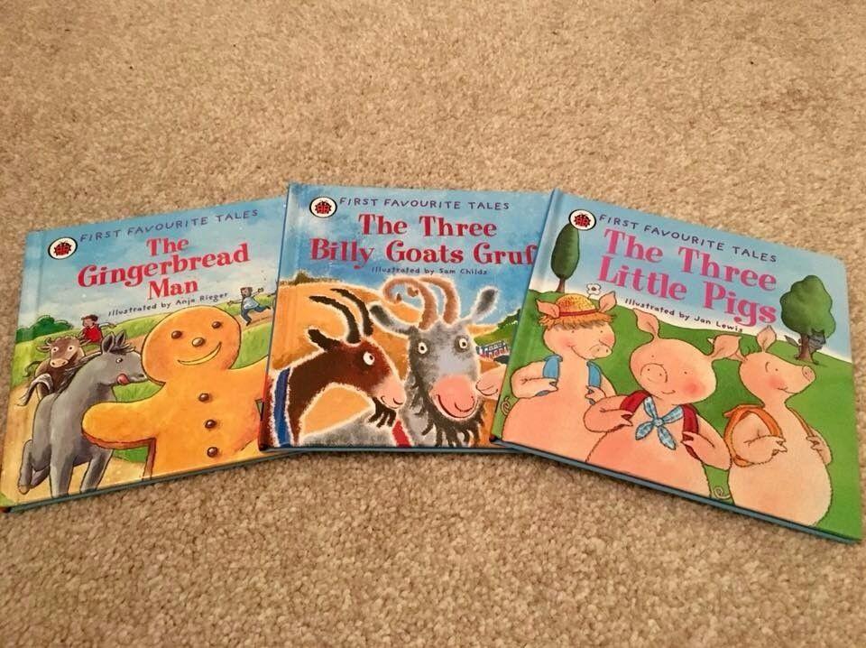 3 Classic Children Fairytale Ladybird First Favourite Tales Books